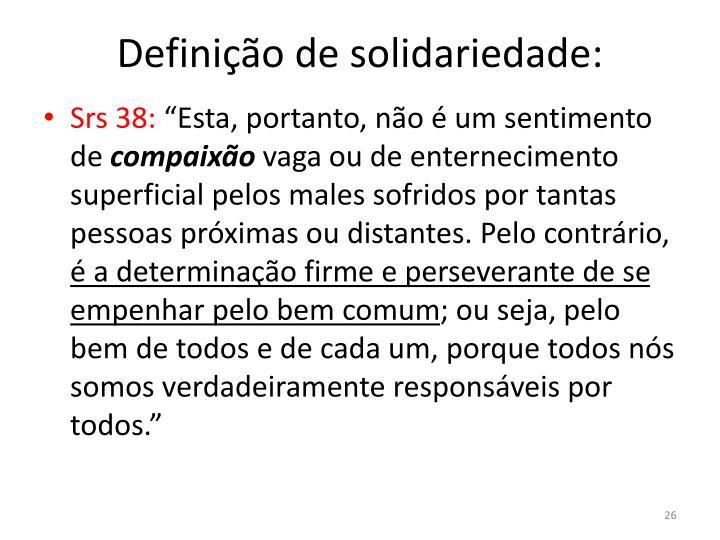 Definição de solidariedade: