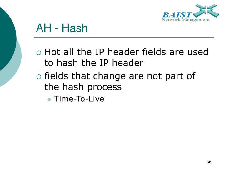 AH - Hash