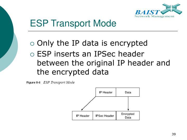 ESP Transport Mode