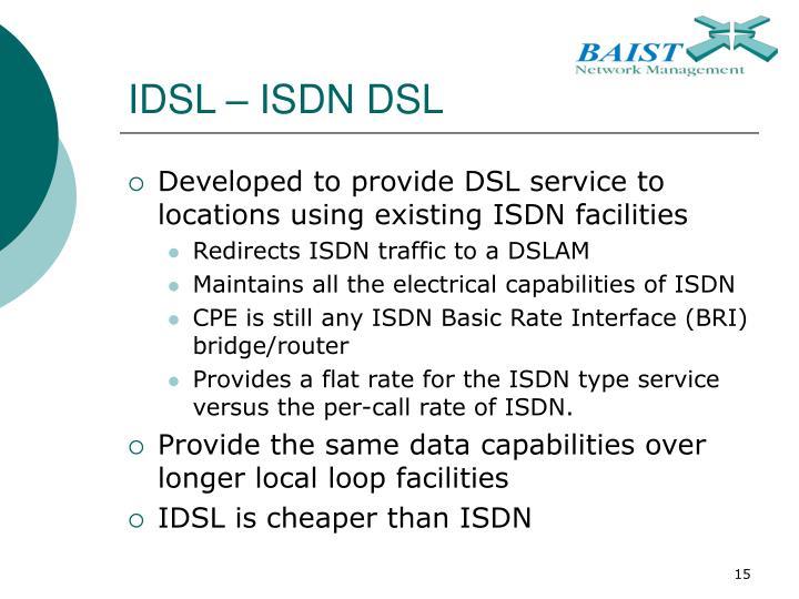 IDSL – ISDN DSL