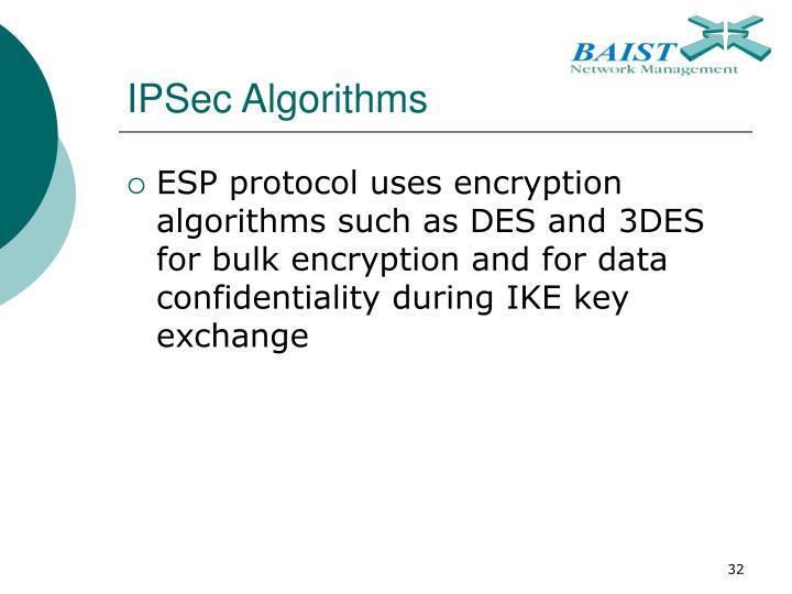 IPSec Algorithms