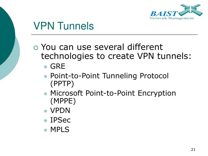 VPN Tunnels