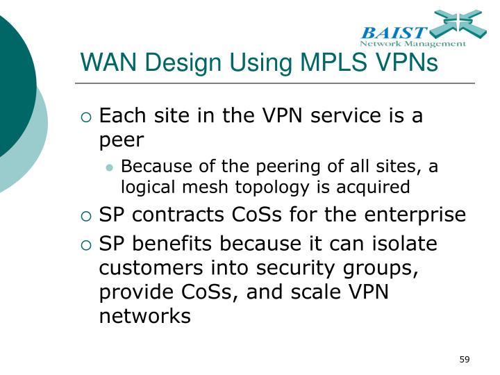 WAN Design Using MPLS VPNs