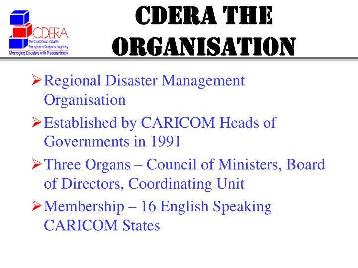 Cdera the organisation