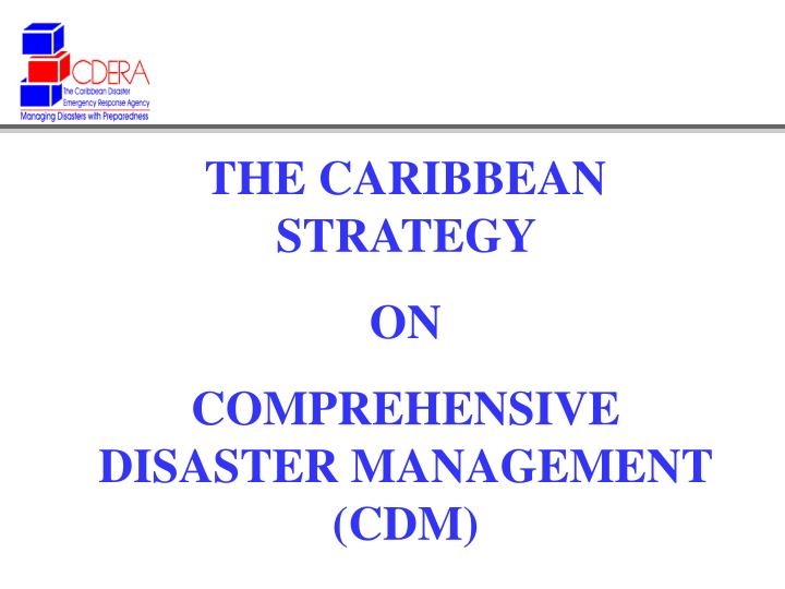 THE CARIBBEAN STRATEGY