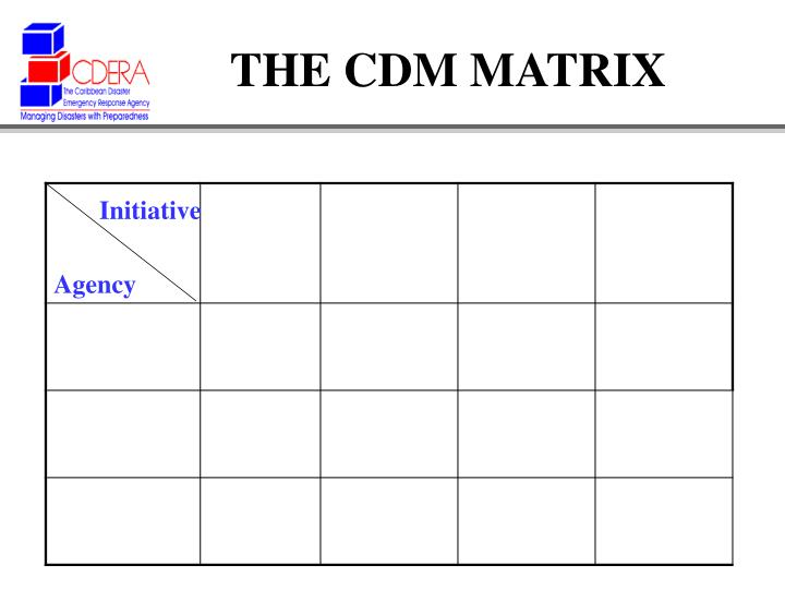 THE CDM MATRIX