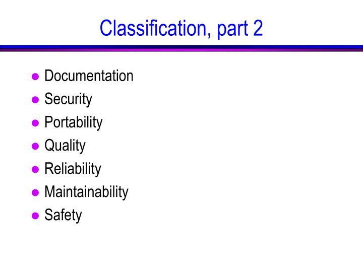 Classification, part 2