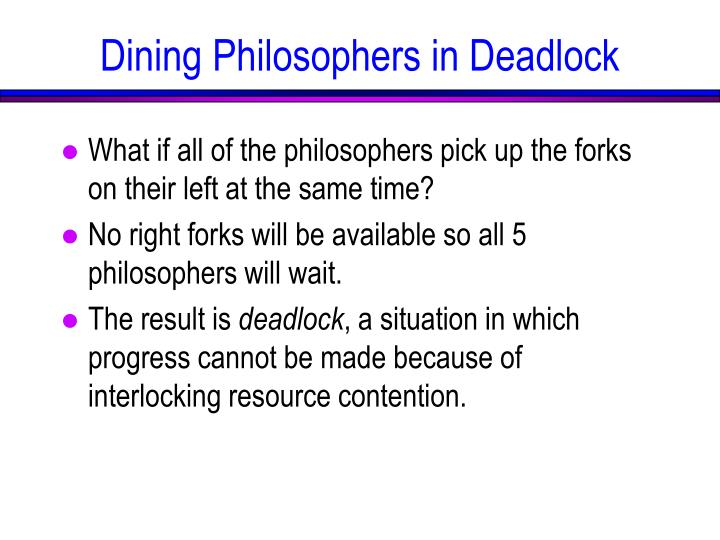 What if all of the philosophers pick up the forks on their left at the same time?