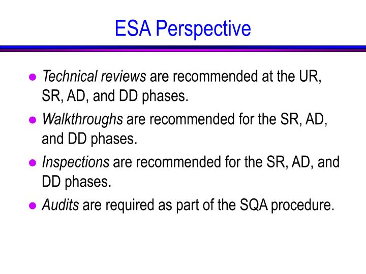 ESA Perspective