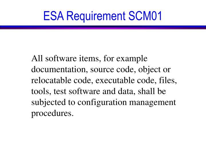 ESA Requirement SCM01