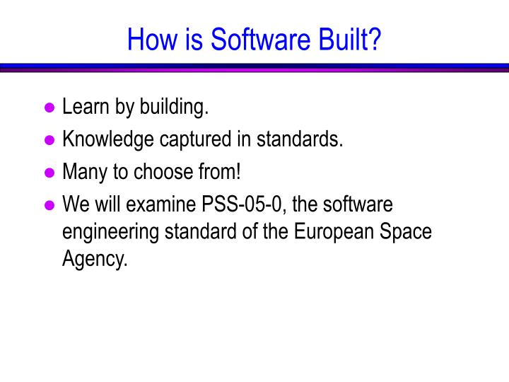 How is software built