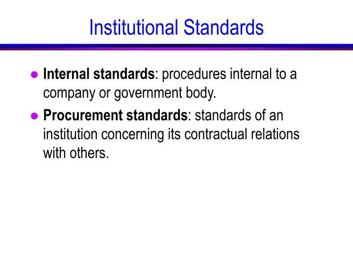 Internal standards