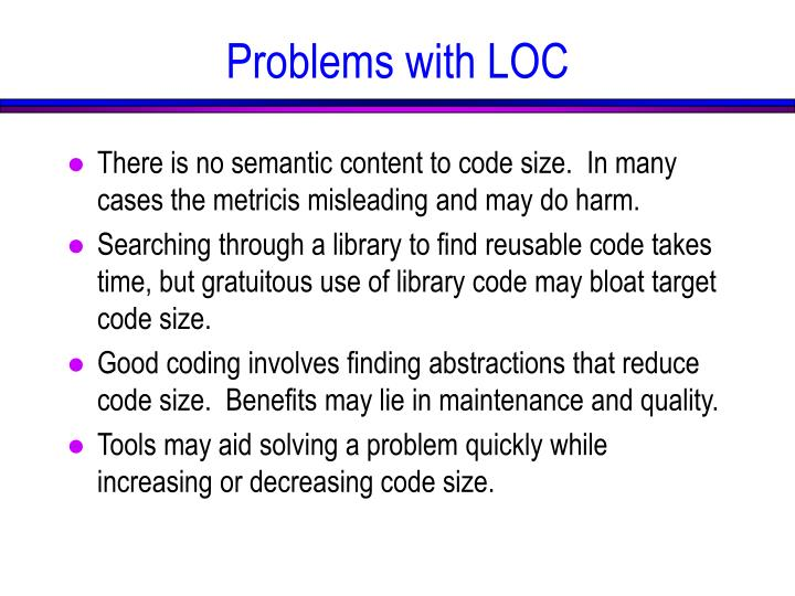 Problems with LOC