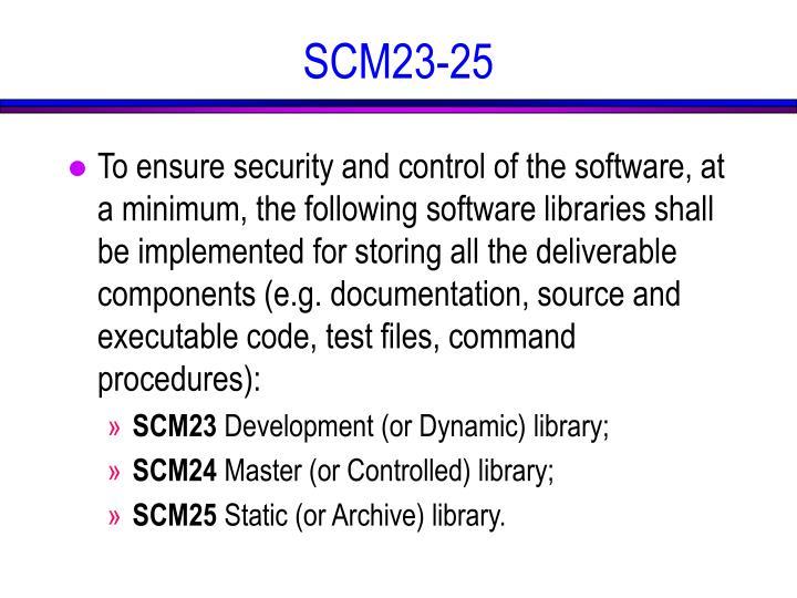 SCM23-25
