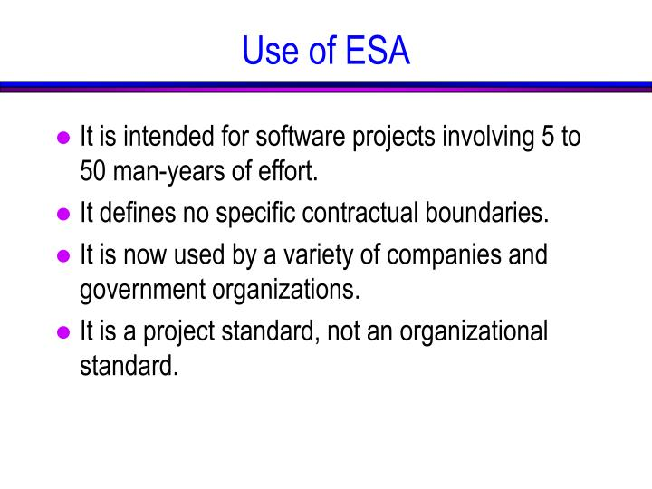 It is intended for software projects involving 5 to 50 man-years of effort.