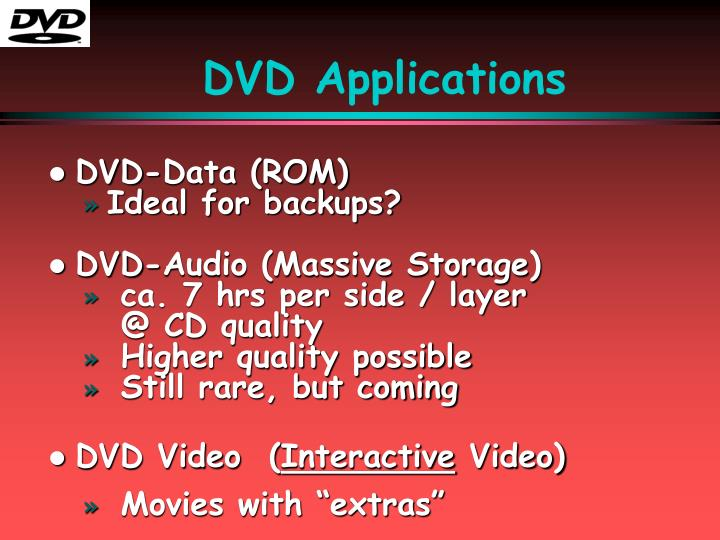 DVD Applications