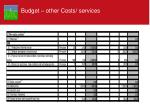 budget other costs services