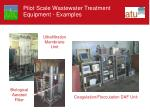 pilot scale wastewater treatment equipment examples