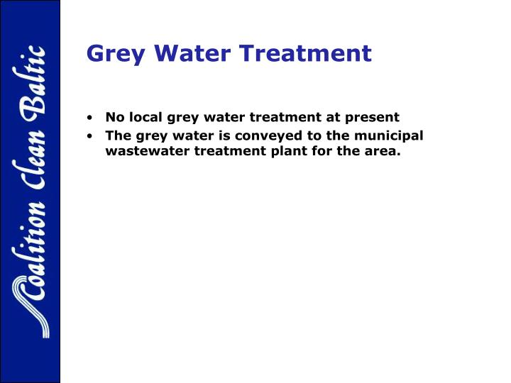 Grey Water Treatment