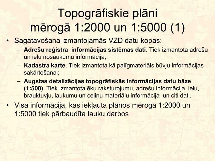 Topogrāfiskie plāni