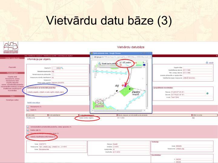 Vietvārdu datu bāze (3)