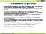 competition vs growth
