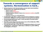 towards a convergence of support systems harmonisation is hard