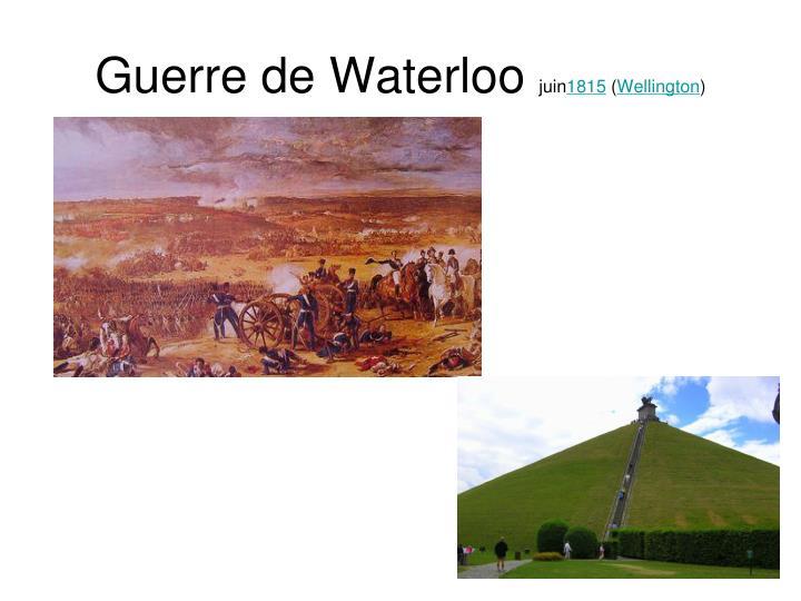 Guerre de Waterloo