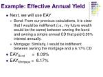 example effective annual yield1