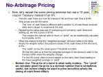 no arbitrage pricing3