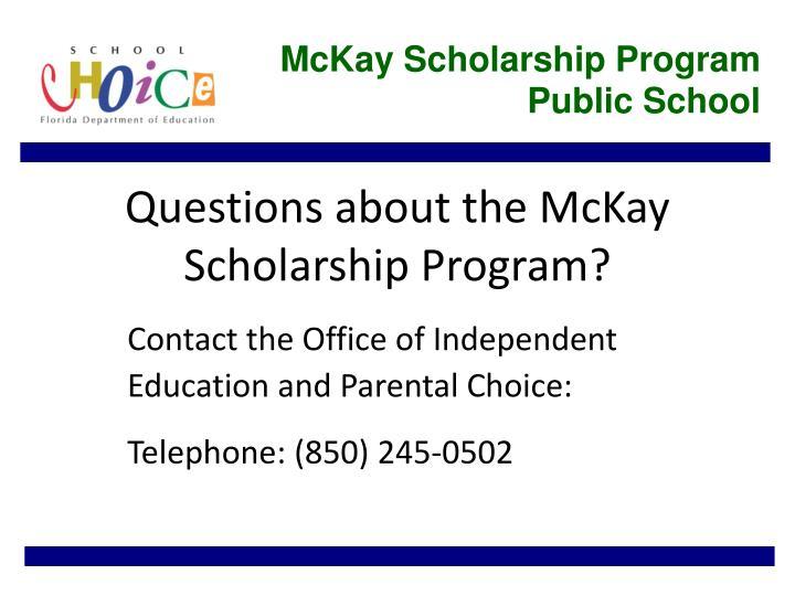 McKay Scholarship Program