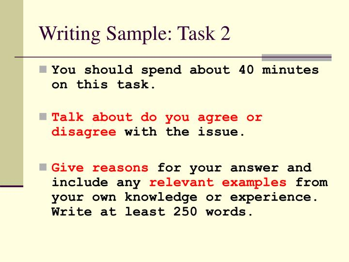 Writing Sample: Task 2