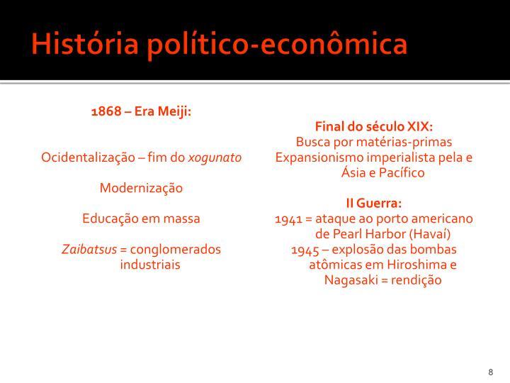 História político-econômica