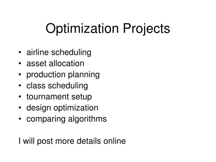 Optimization Projects
