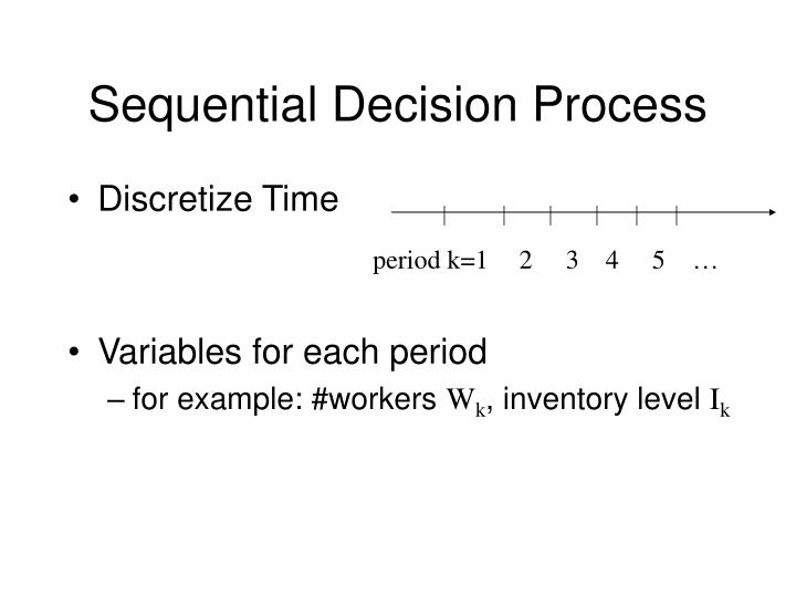 Sequential Decision Process