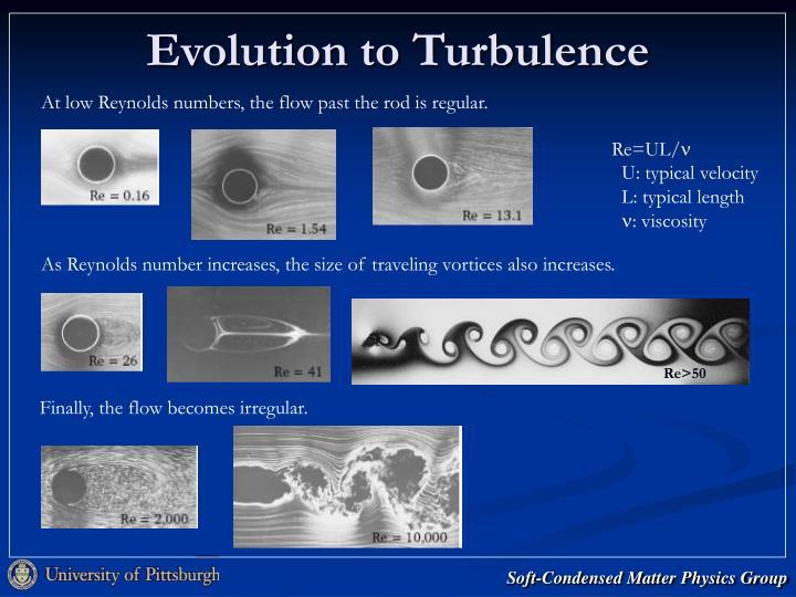 Evolution to Turbulence