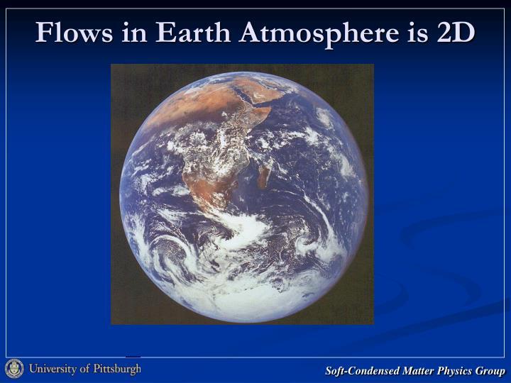 Flows in Earth Atmosphere is 2D