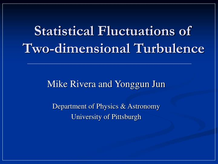 Statistical Fluctuations of