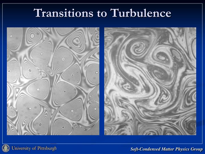 Transitions to Turbulence