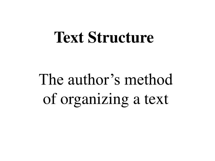 text structure n.