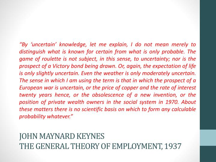 John maynard keynes the general theory of employment 1937