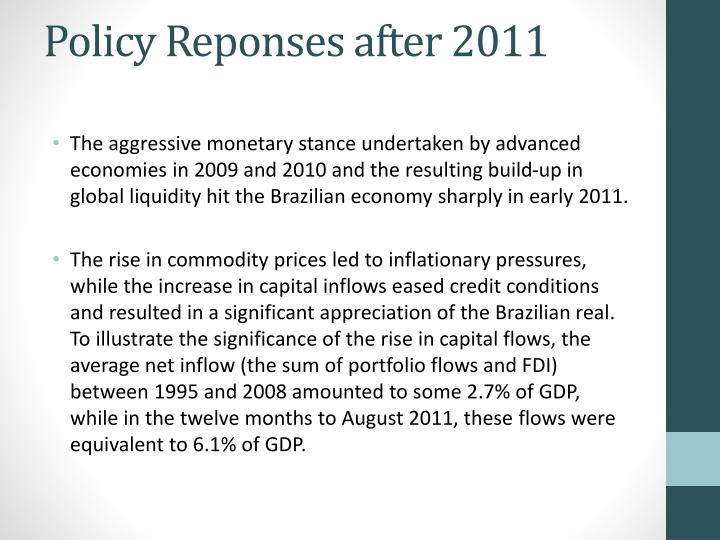 Policy Reponses after 2011