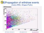propagation of withdraw events color rrc shape prefix