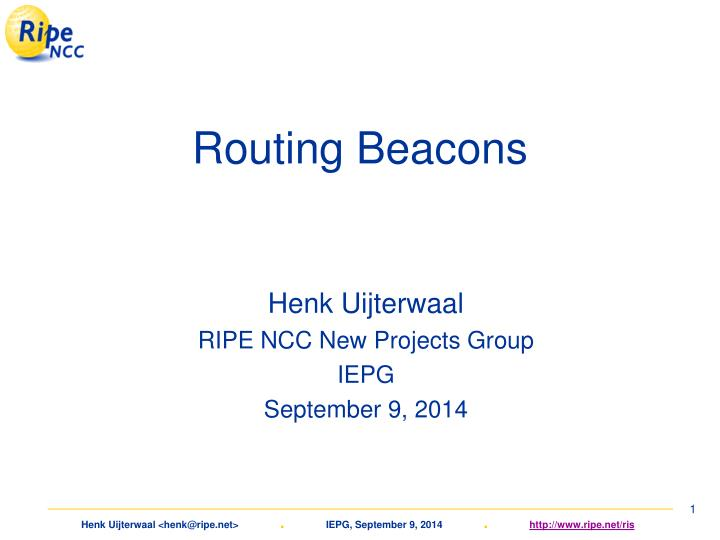 routing beacons