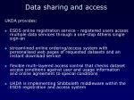 data sharing and access