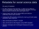 metadata for social science data
