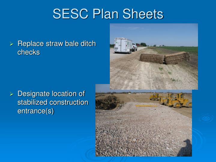 SESC Plan Sheets