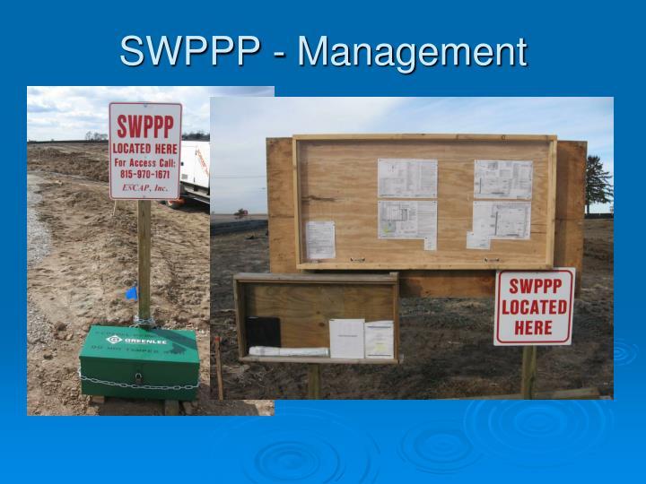 SWPPP - Management