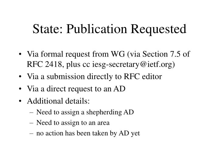 State: Publication Requested