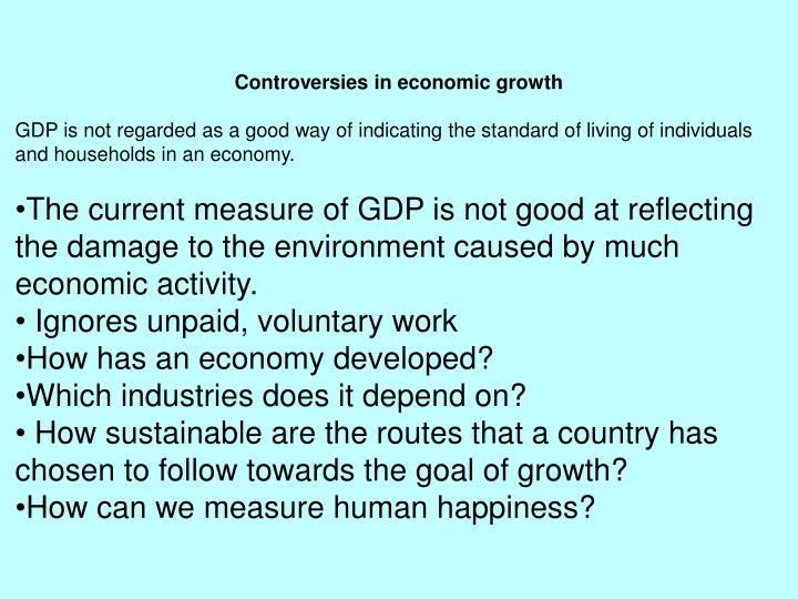 Controversies in economic growth